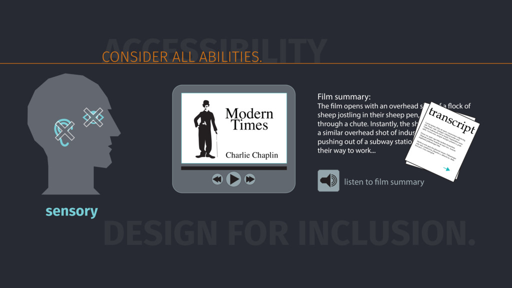 DESIGN FOR INCLUSION. Film summary: The film op...