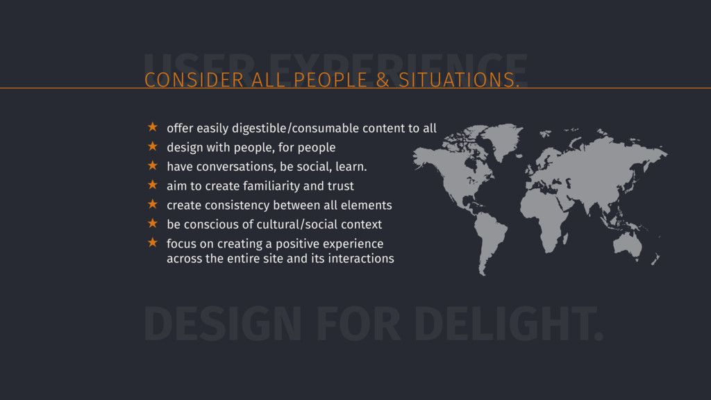 ★ offer easily digestible/consumable content to...