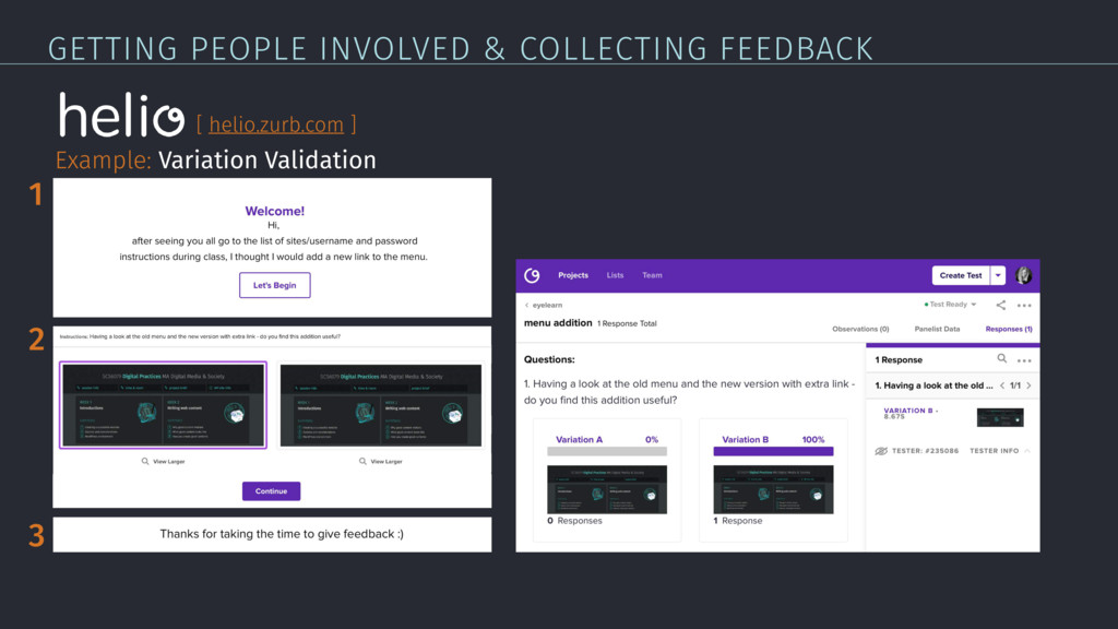 GETTING PEOPLE INVOLVED & COLLECTING FEEDBACK E...