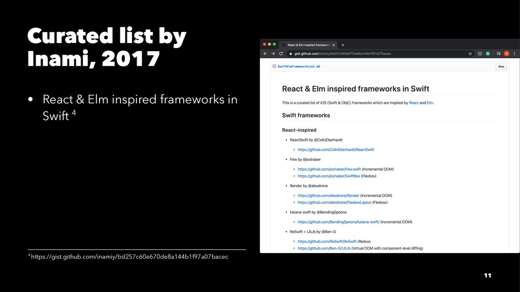 Curated list by Inami, 2017 • React & Elm inspi...