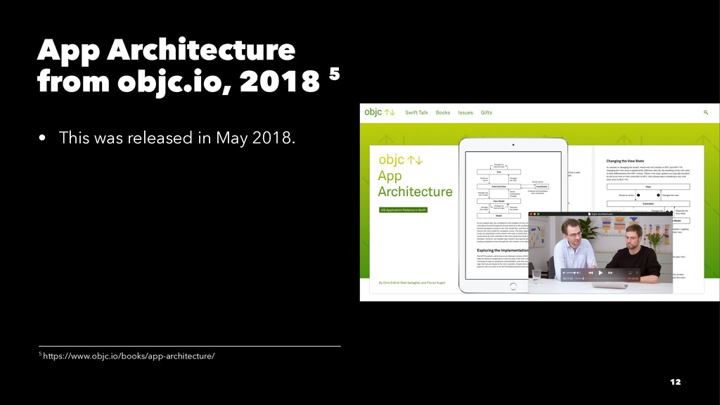 App Architecture from objc.io, 2018 5 • This wa...