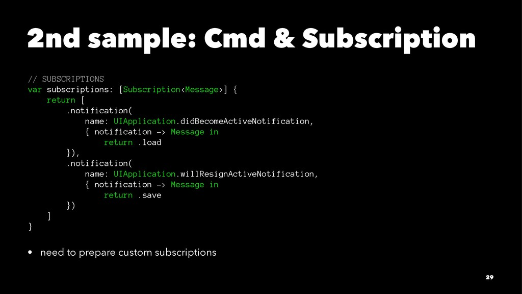 2nd sample: Cmd & Subscription // SUBSCRIPTIONS...