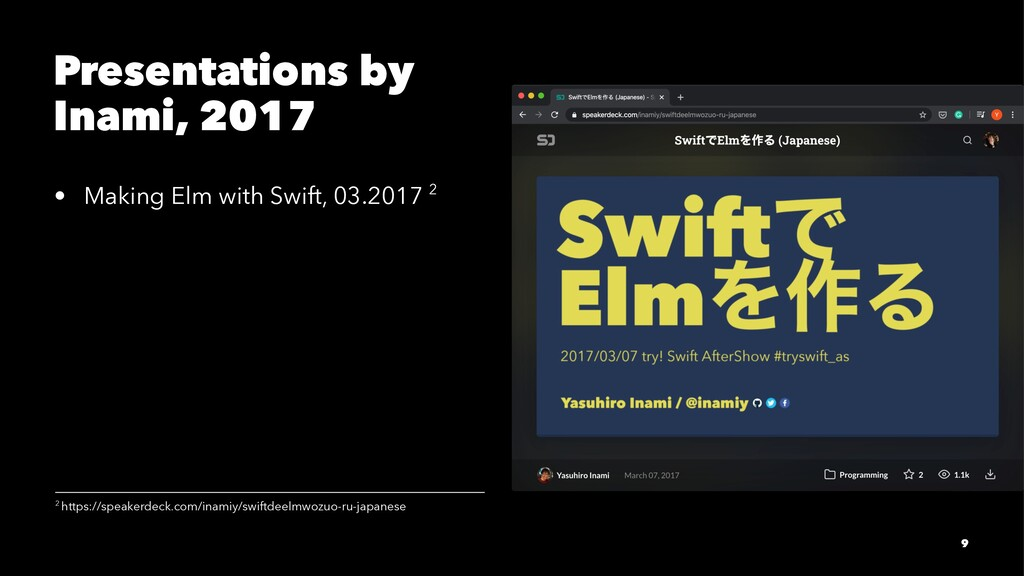 Presentations by Inami, 2017 • Making Elm with ...