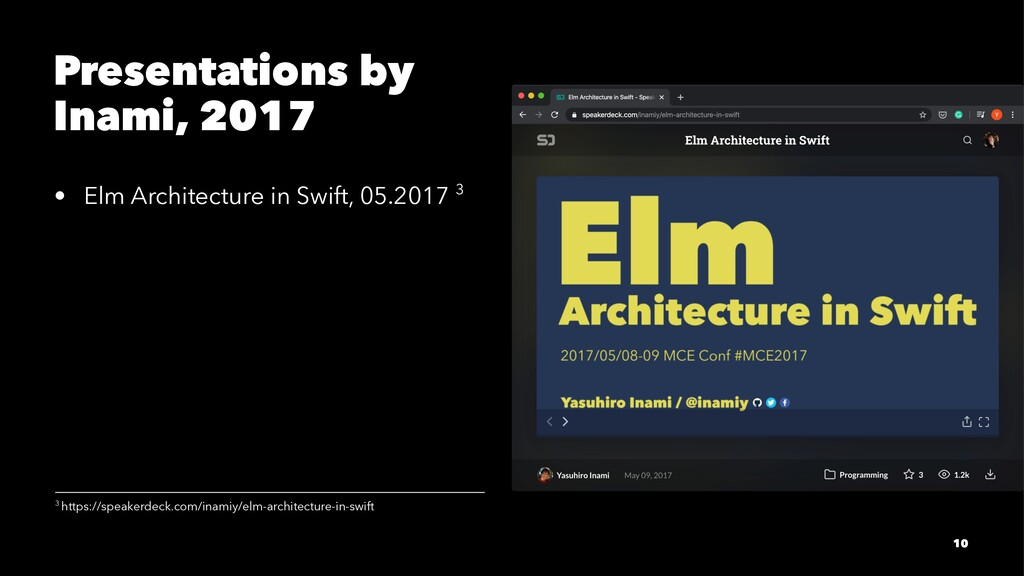 Presentations by Inami, 2017 • Elm Architecture...