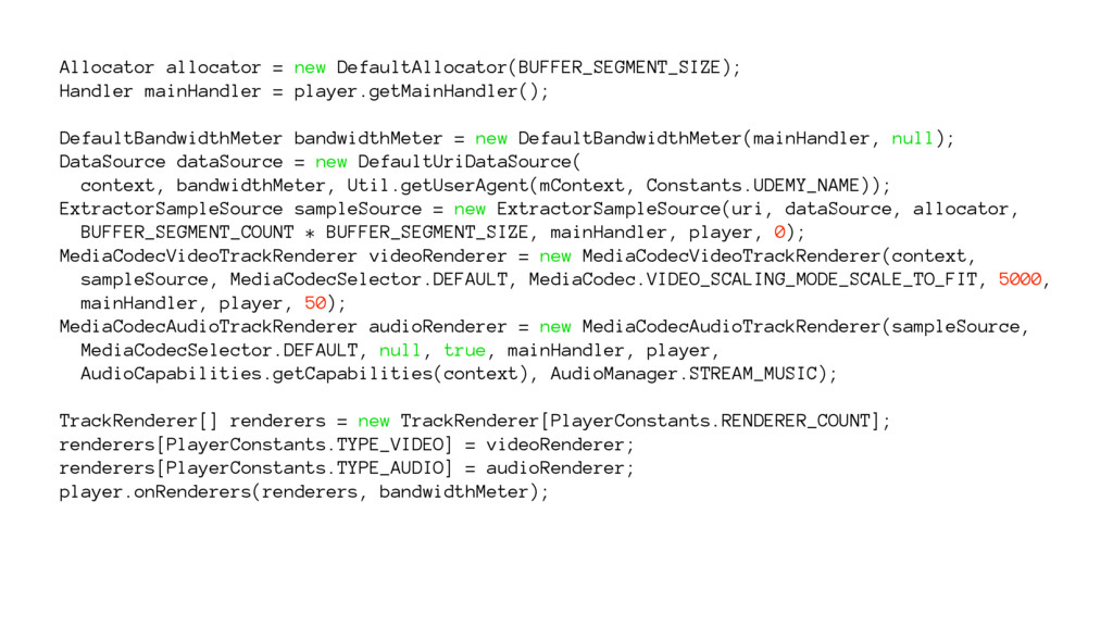 Allocator allocator = new DefaultAllocator(BUFF...