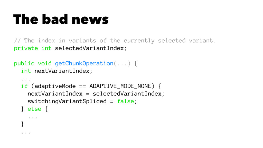 The bad news // The index in variants of the cu...