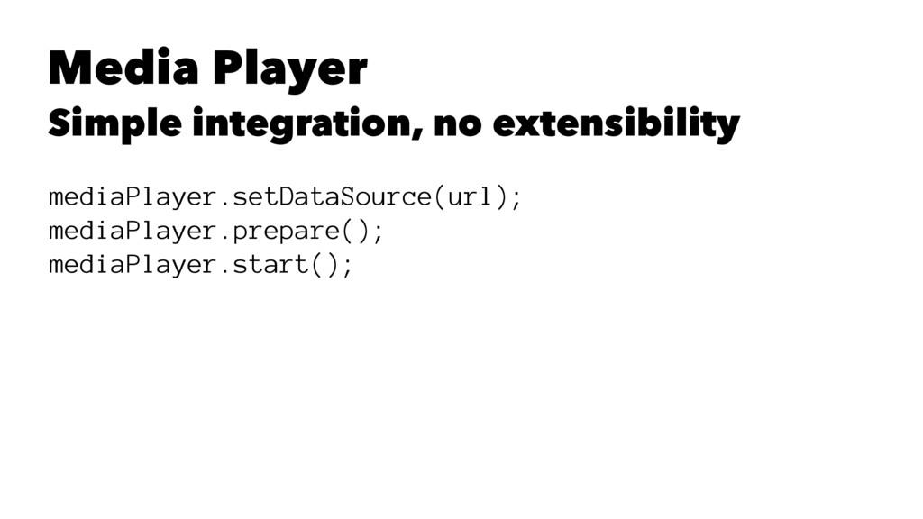 Media Player Simple integration, no extensibili...