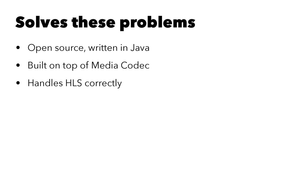 Solves these problems • Open source, written in...