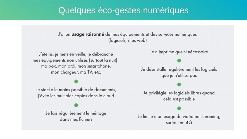 Quelques éco-gestes numériques