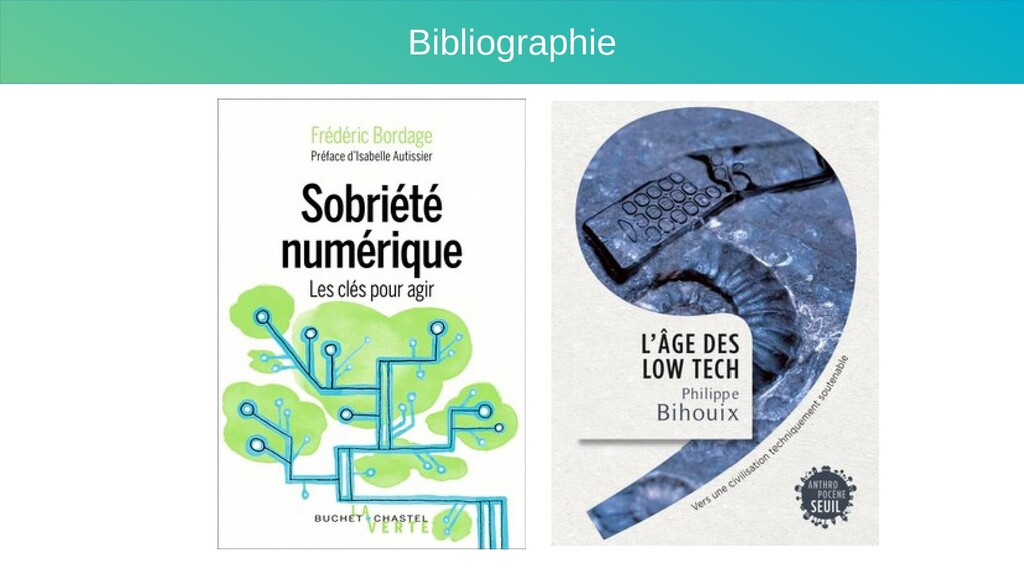 Sobriété Bibliographie