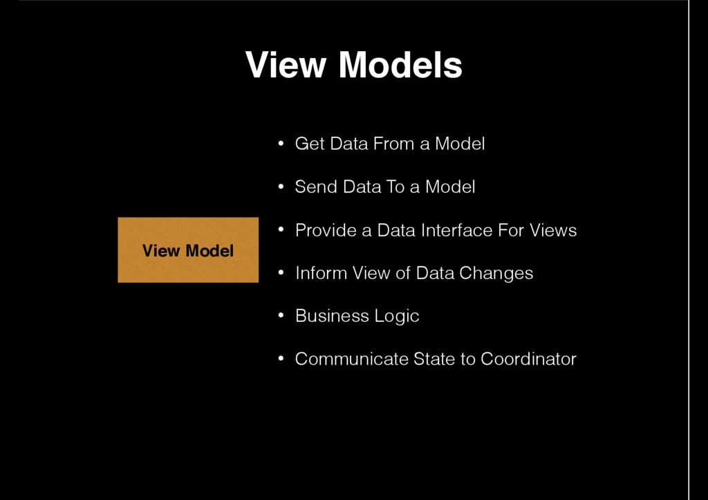 • Get Data From a Model • Send Data To a Model ...