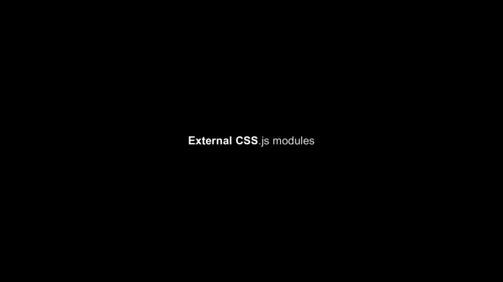 External CSS.js modules