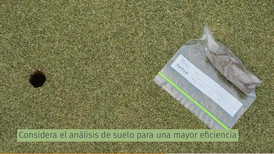 Considera el análisis de suelo para una mayor e...