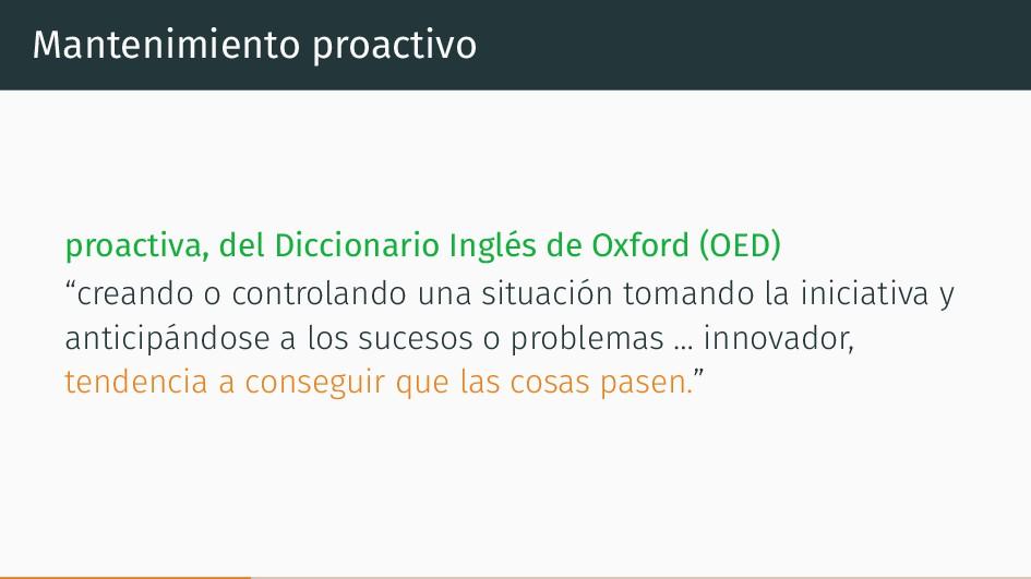 Mantenimiento proactivo proactiva, del Dicciona...