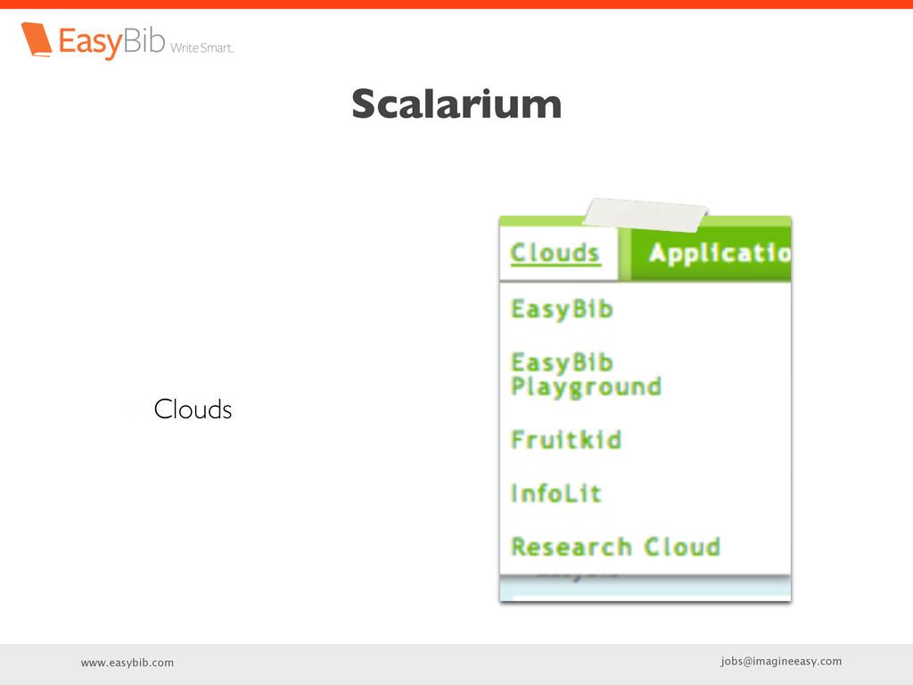 jobs@imagineeasy.com www.easybib.com Scalarium ...