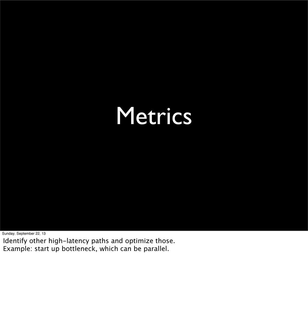 Metrics Sunday, September 22, 13 Identify other...