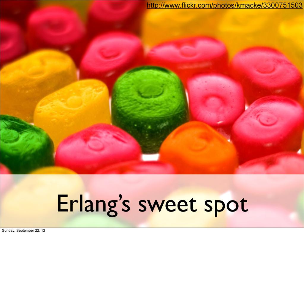 Erlang's sweet spot http://www.flickr.com/photo...