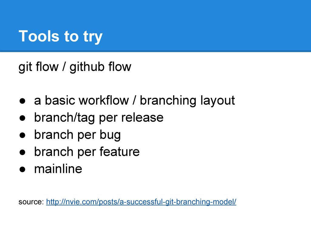 git flow / github flow ● a basic workflow / bra...