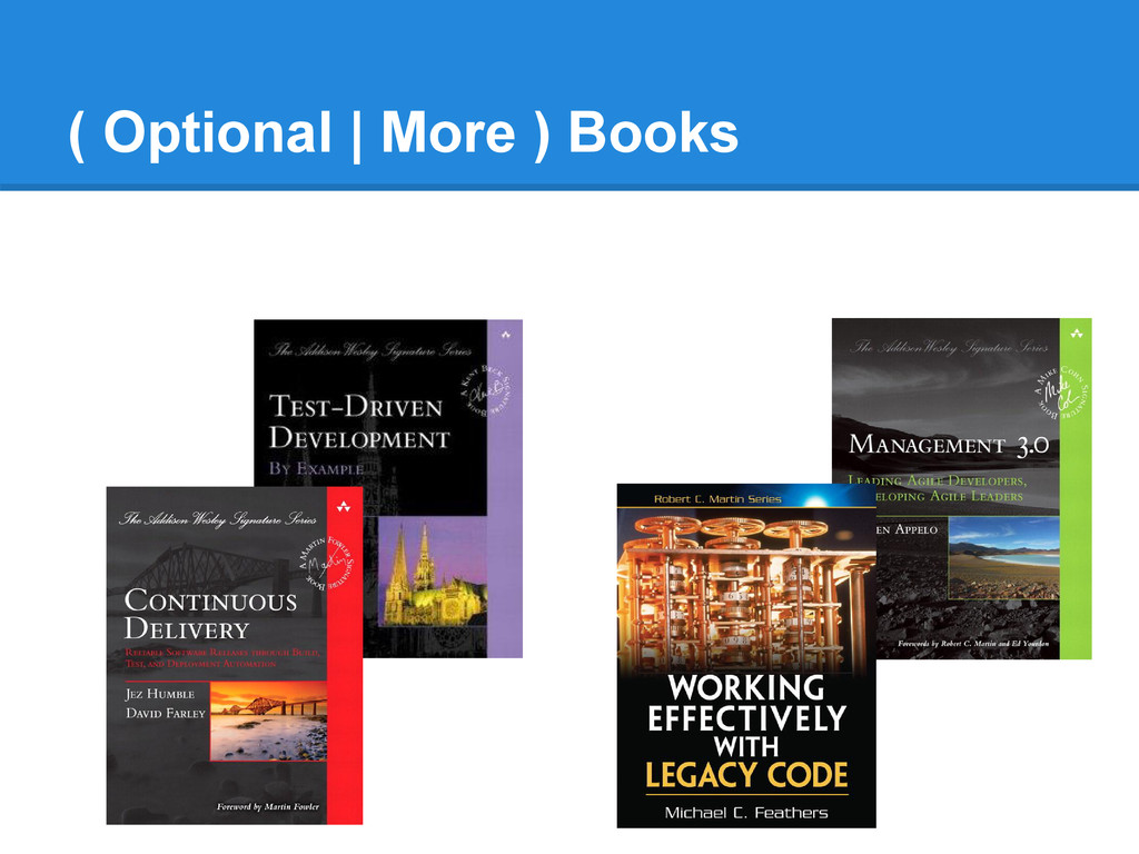 ( Optional | More ) Books