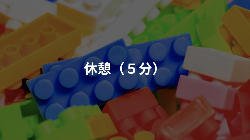 休憩(5分)