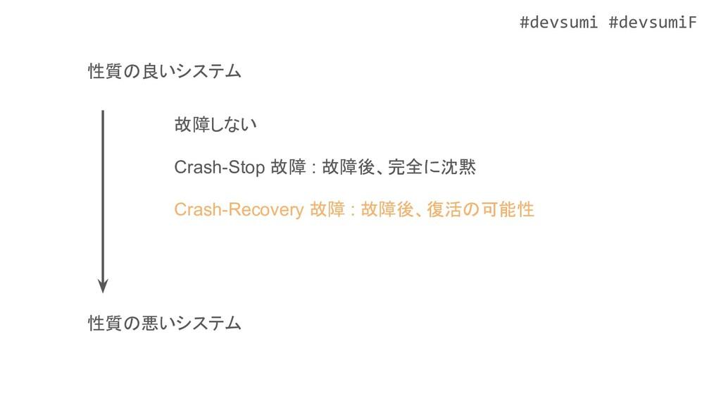 #devsumi #devsumiF 故障しない 性質の良いシステム Crash-Stop 故...