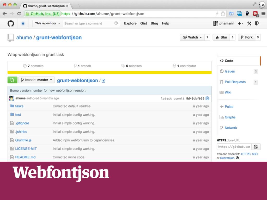 service worker Webfontjson