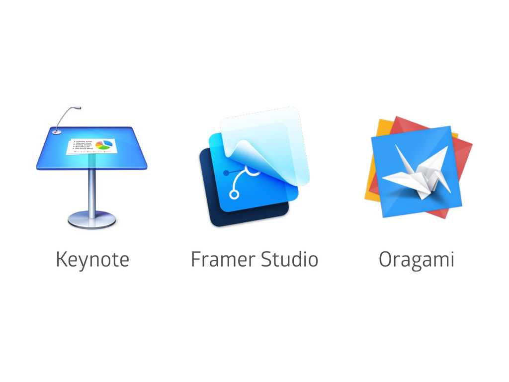 Keynote Framer Studio Oragami