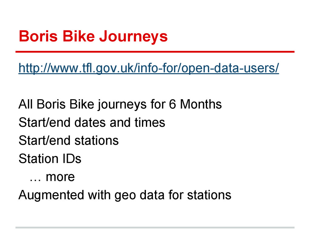 Boris Bike Journeys http://www.tfl.gov.uk/info-...