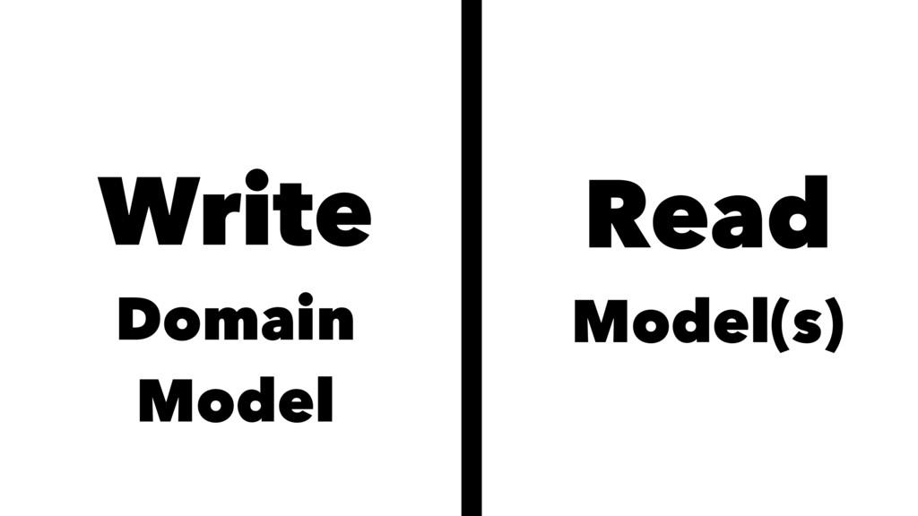 Write Domain Model Read Model(s)