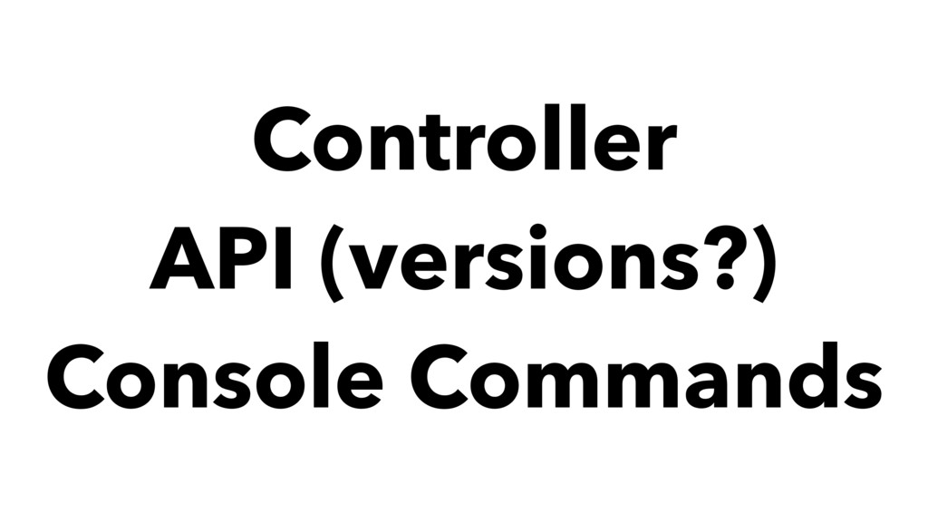 Controller API (versions?) Console Commands