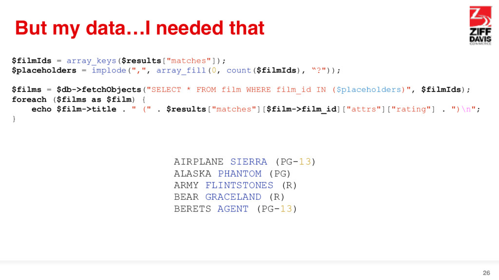 But my data…I needed that 26 $filmIds = array_k...