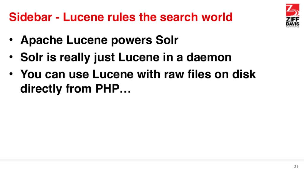 Sidebar - Lucene rules the search world • Apach...