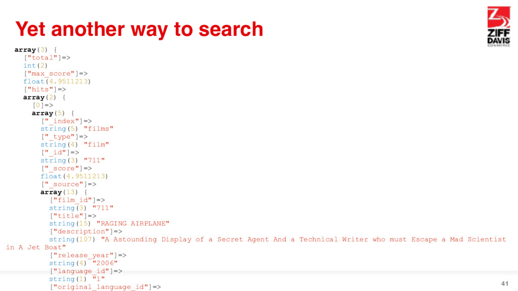 """41 Yet another way to search array(3) { [""""total..."""