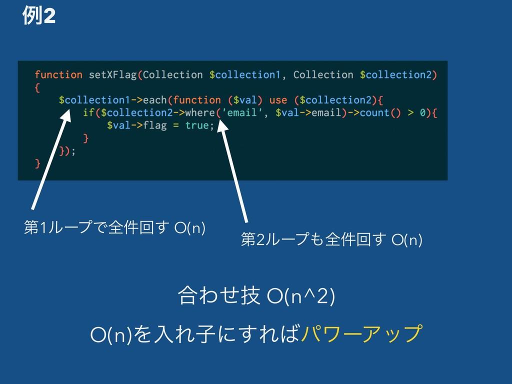 ߹Θٕͤ O(n^2) O(n)ΛೖΕࢠʹ͢ΕύϫʔΞοϓ ྫ2 ୈ1ϧʔϓͰશ݅ճ͢ O(...