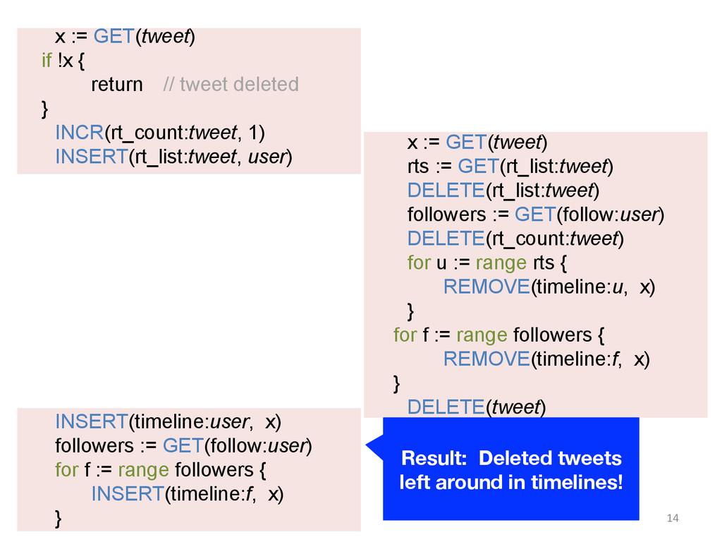 x := GET(tweet) if !x { return // tweet deleted...