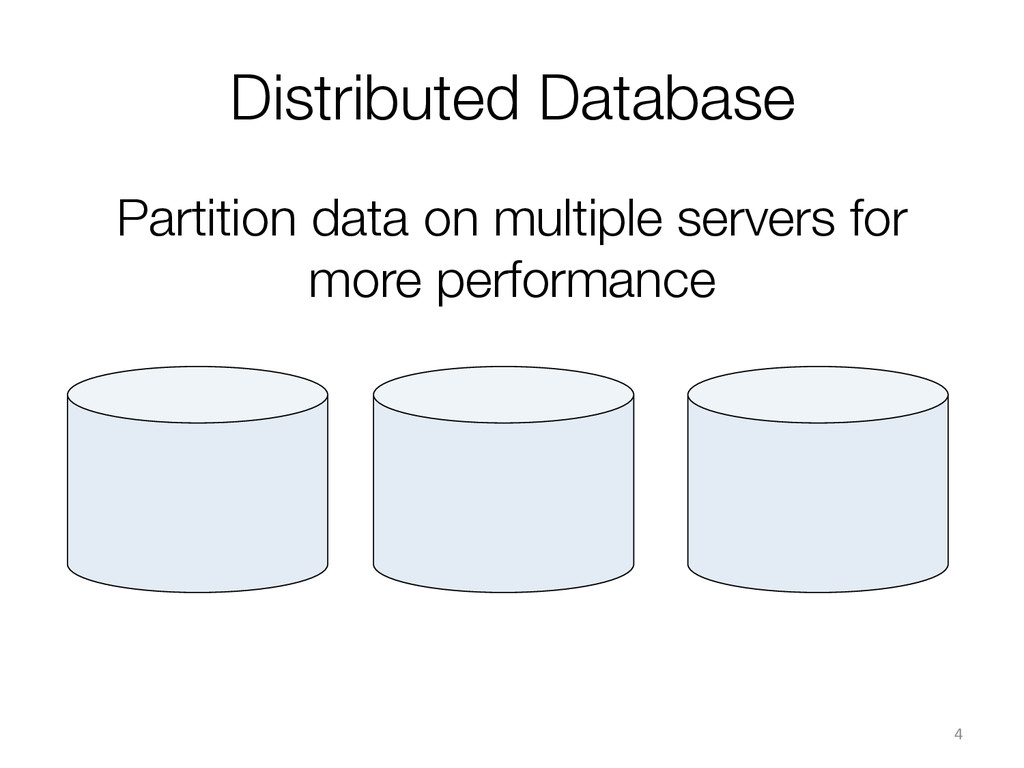 Distributed Database 4  Partition data on m...