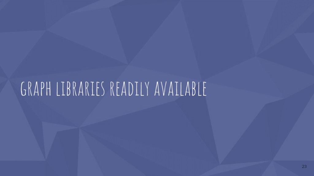 graph libraries readily available 23