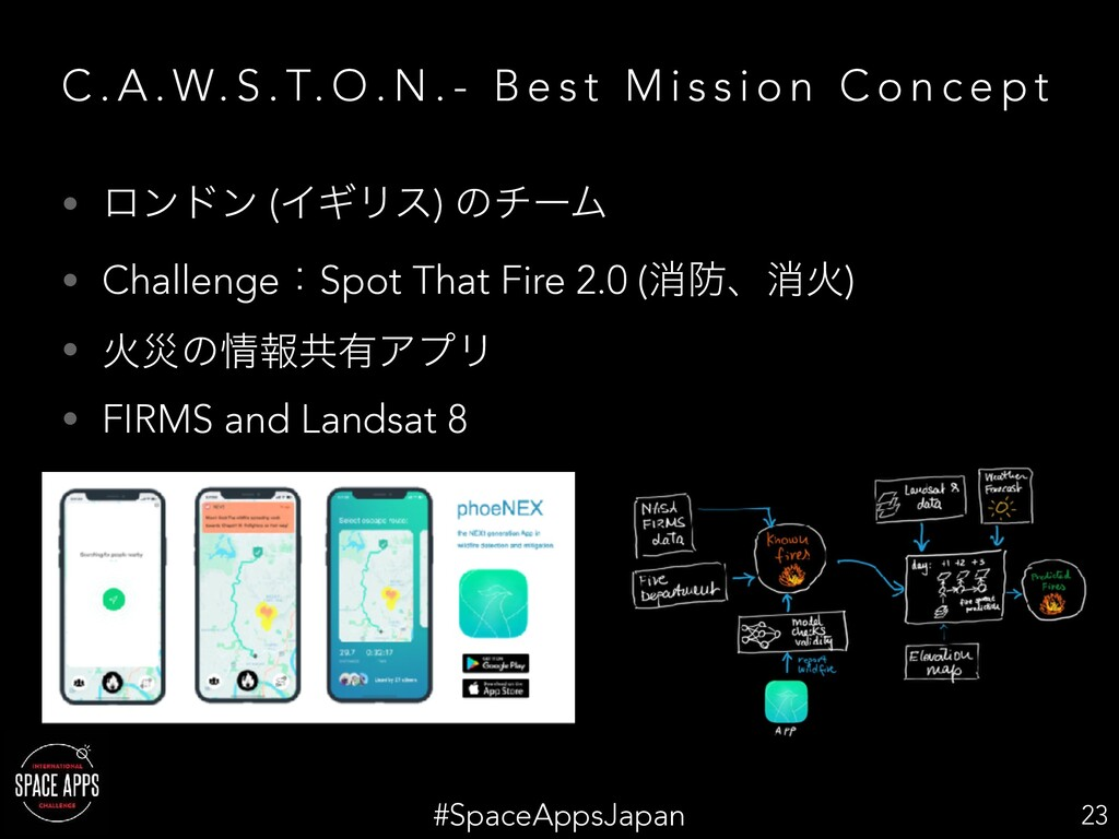 #SpaceAppsJapan C . A . W. S . T. O . N . - B e...