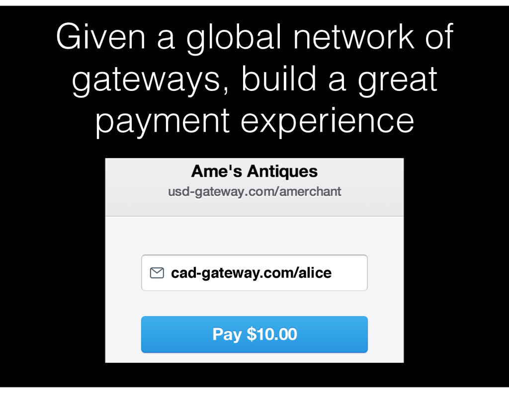 Given a global network of gateways, build a gre...