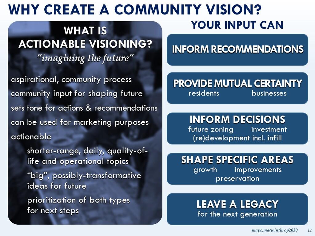 mapc.ma/winthrop2030 12 WHY CREATE A COMMUNITY ...