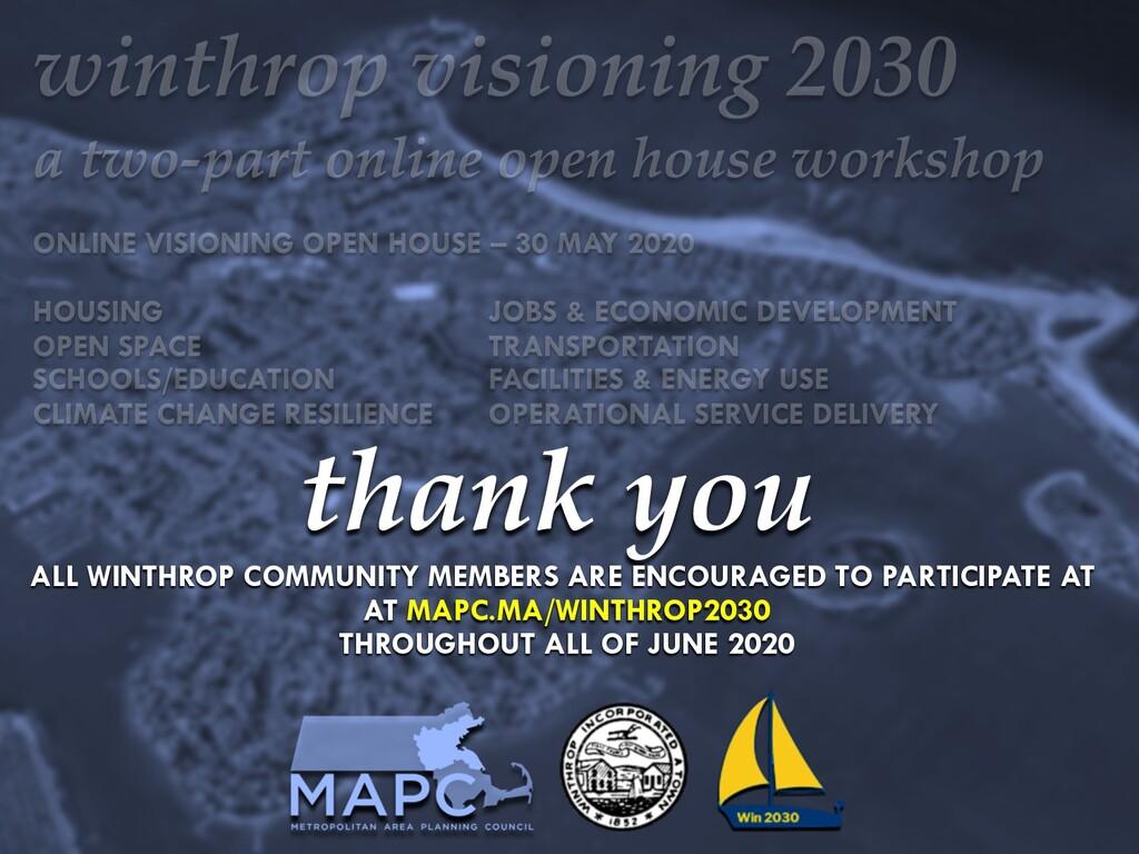 mapc.ma/winthrop2030 18 thank you ALL WINTHROP ...