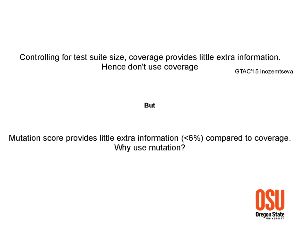 Controlling for test suite size, coverage provi...