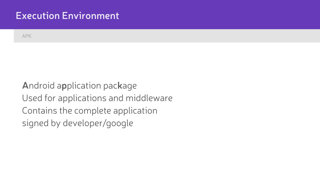 APK Execution Environment Android application p...