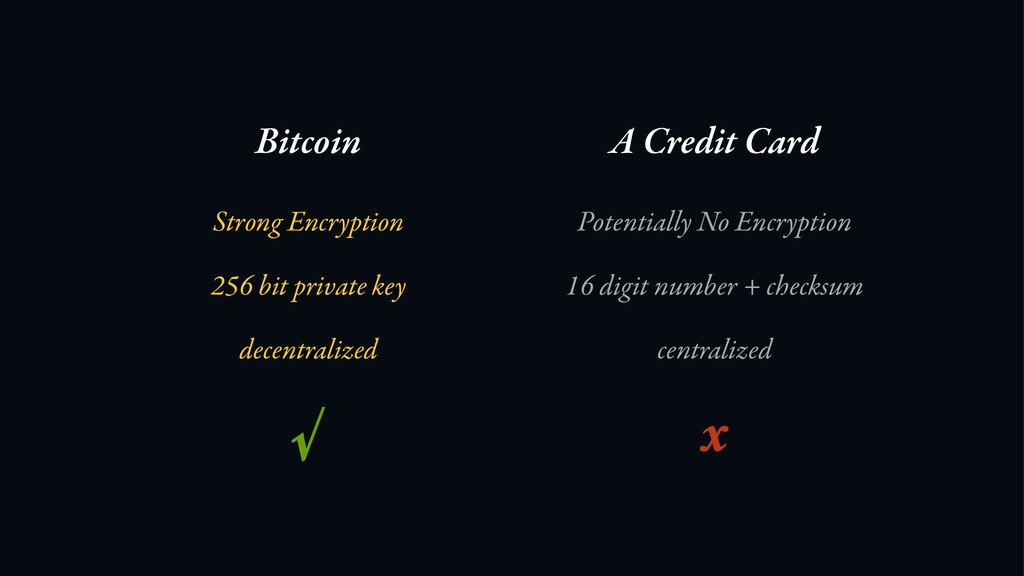 Bitcoin A Credit Card Strong Encryption Potenti...