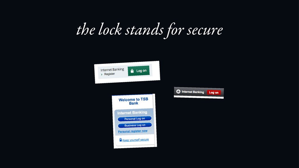 the lock stands for secure
