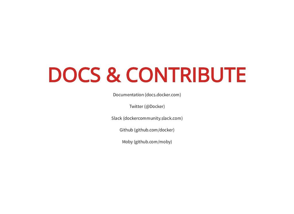DOCS & CONTRIBUTE DOCS & CONTRIBUTE Documentati...