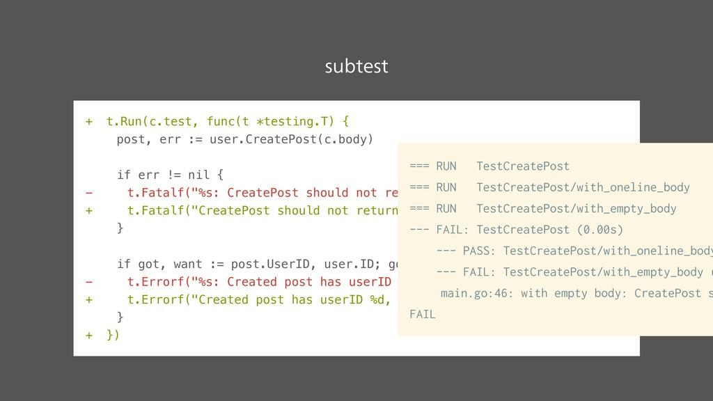 + t.Run(c.test, func(t *testing.T) { post, err ...
