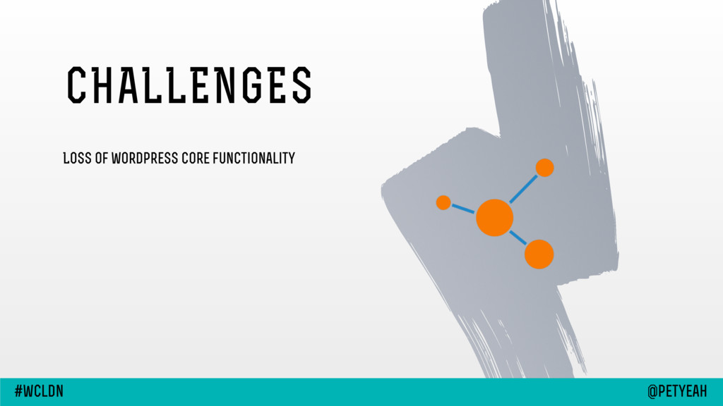 Loss of wordpress core functionality CHALLENGES...