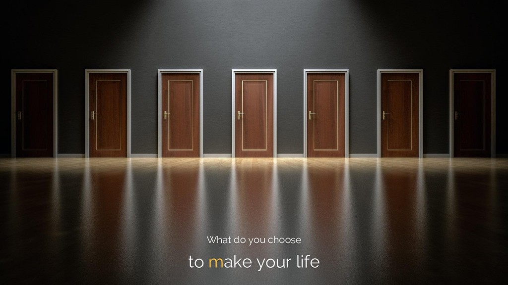 What do you choose to make your life
