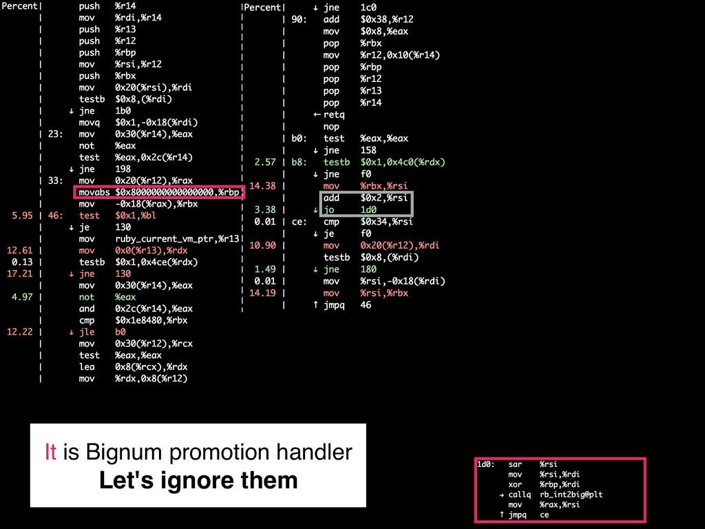 It is Bignum promotion handler Let's ignore them